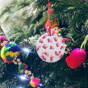 Personalised Colourful Christmas Bauble Decoration