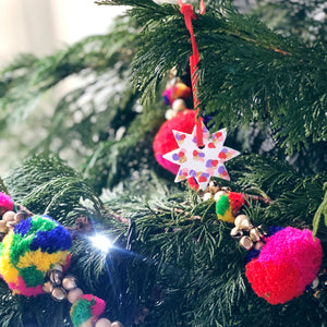 Colourful Christmas Mini Star Decoration Gold