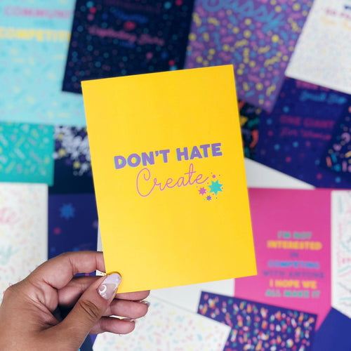 ***50% OFF*** Don't Hate, Create A6 Postcard
