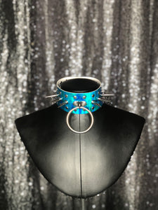 Hazard Blue Holographic Choker