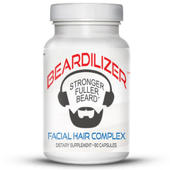 Beardilizer #1 Facial Hair and Beard Growth Complex for Men - 90 capsules