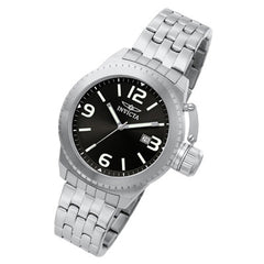 Men's Invicta Corduba Stainless Steel Watch with Round Black Dial (Model: 0987)