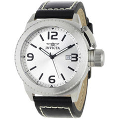 Men's Stainless Steel Invicta Corduba Watch with Silver Dial (Model: 1110)