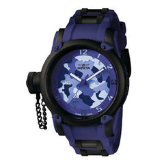 Men's Invicta Russian Diver Collection Watch with Round Blue Camouflage Dial (Model: 1196)