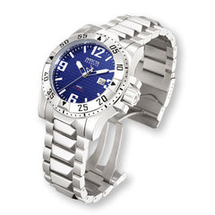 Men's Invicta Signature Excursion Diver Stainless Steel Watch with Blue Dial (Model: 7263)