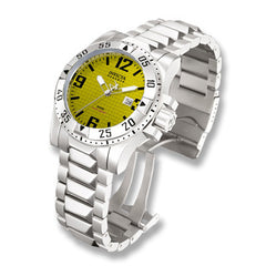 Men's Invicta Signature Excursion Diver Stainless Steel Watch with Yellow Dial (Model: 7264)