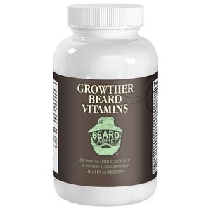 Beard Supplement Bottle Front View