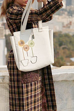 Load image into Gallery viewer, White Handmade Shoulder Bag with Embroidery