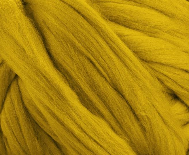 Mustard Yellow Merino Wool For Arm Knitting - 3kg