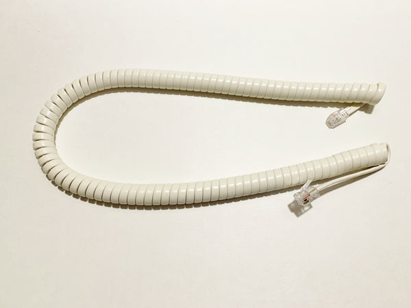 12 Foot Universal Telephone Handset Cord - Light Ivory Color