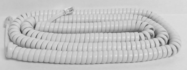25 Foot Bright White Universal Long Telephone Handset Cord