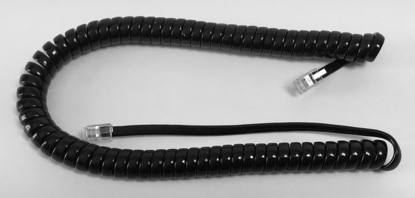 9 Foot Gloss Black Universal Telephone Handset Cord