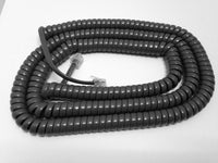 25 Foot Long Handset Curly Coil Cord for Avaya / Lucent 2400 5400 4600 5600 Series Phone (Gray)