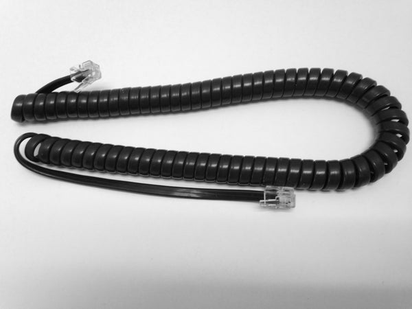 9 Foot Handset Curly Coil Cord for Avaya J100 Series IP Phone J129 J139 J169 J179 (Charcoal Gray)