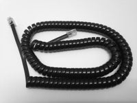 12 Foot Gloss Black Universal Telephone Handset Cord