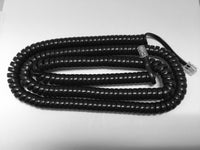 25 Foot Long Gloss Black Universal Telephone Handset Cord