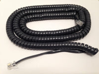 25 Foot Long Handset Curly Coil Cord for Avaya J100 Series IP Phone J129 J139 J169 J179 (Charcoal Gray)