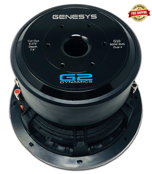 "G2 Dynamics Genesys Series 10"" Subwoofer Dual 4 Ohm"