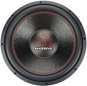 "Massive Audio GTX154 - 15"" 700 WATTS RMS DUAL 4 OHM SUBWOOFER"