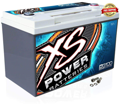 D3100 XS Power 12VDC AGM Car Audio Battery 5000A 110Ah Group 31