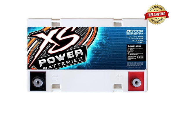 D5100R / D5100 XS Power 12VDC AGM Car Audio Battery 3100A 60Ah Group 51R/51
