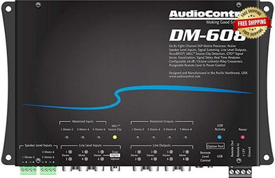 AudioControl DM-608 6-In / 8-Out Digital Sound Processor