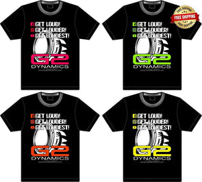 G2 Dynamics LIMITED EDITION Printed Tees (SOLD OUT)
