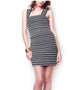 Black & White Braided Bandage Dress