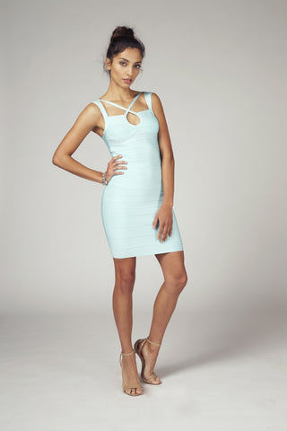 Chrissy, Mint Bandage Cocktail Dress