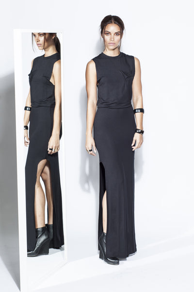 Jamie, Muscle T Maxi Dress Double Slits