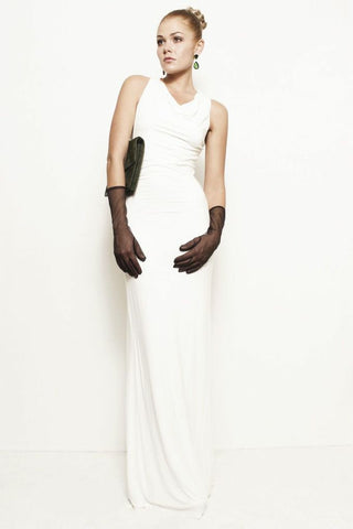 Lauren, Backless Asymmetrical Maxi Dress Gown