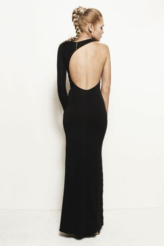 Leighton, Backless One Sleeve Dress Gown