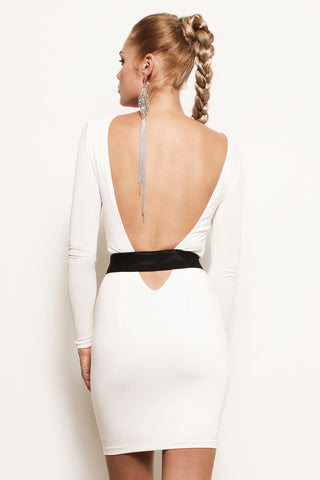 Nicole, Long Sleeve Backless Cutout Mini