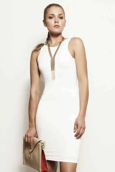 Samantha, Backless Scoop Tank Dress