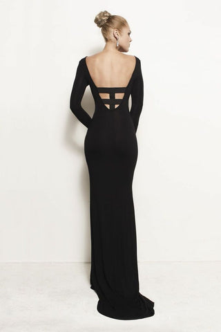 Vivien, Cage Back Train Dress