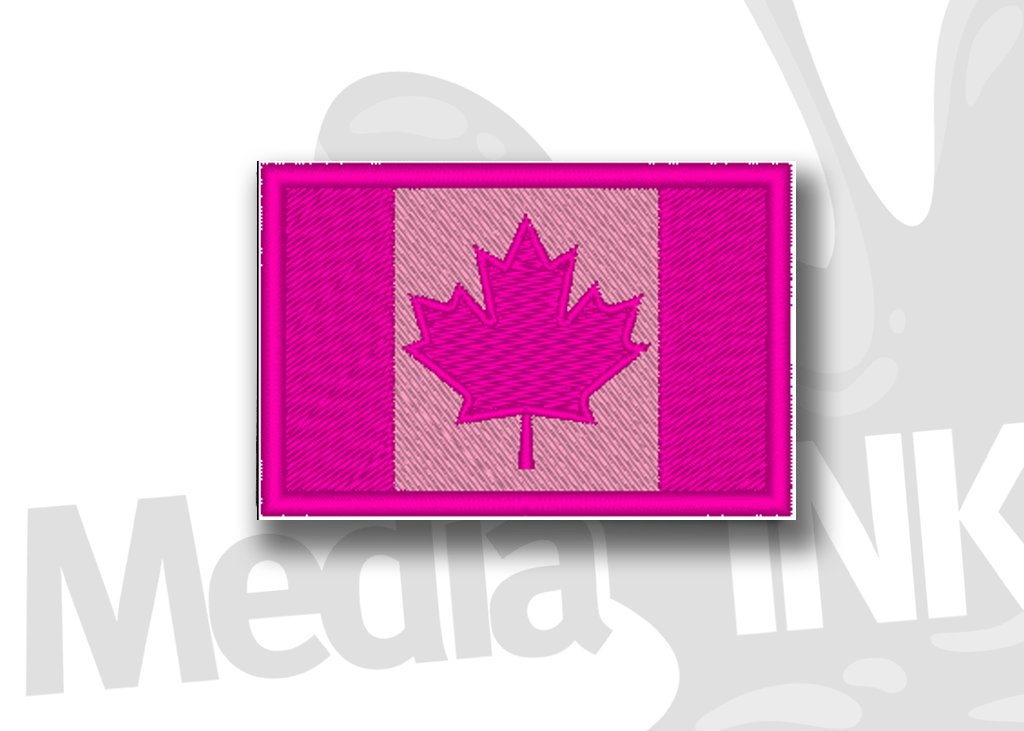 Canada Flag Hot Pink/Pink