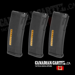 MS120c Adjustable ERG/AEG2.5/AEG3 Mid-Cap Magazines- 3 Pack
