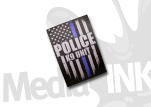 Distressed Thin Blue Line K9 Unit USA Flag