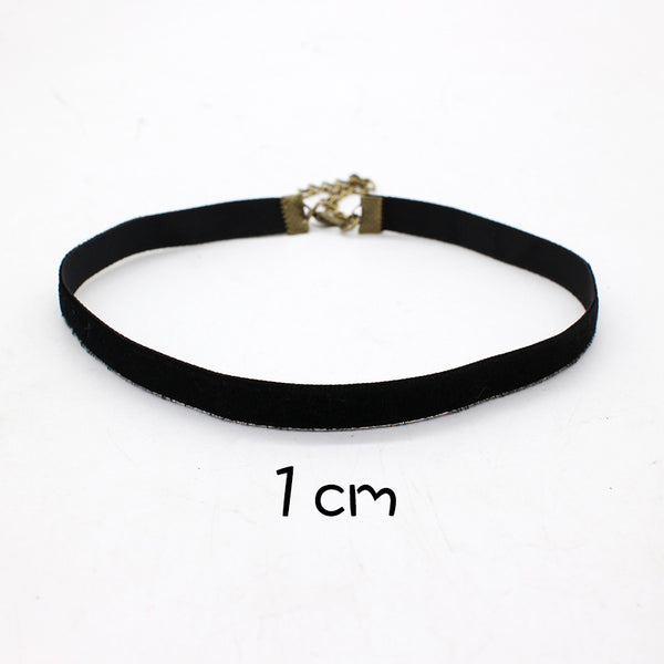 Black Retro Velvet Choker Necklace 90's