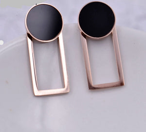RoseGold Rectangle Earrings