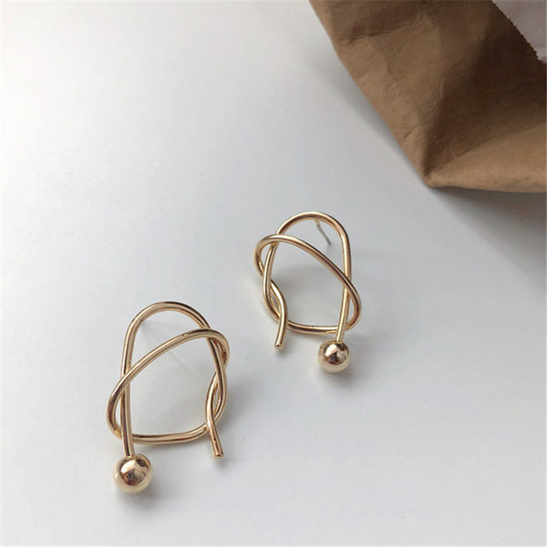 Chic Wrapped Stud Earrings