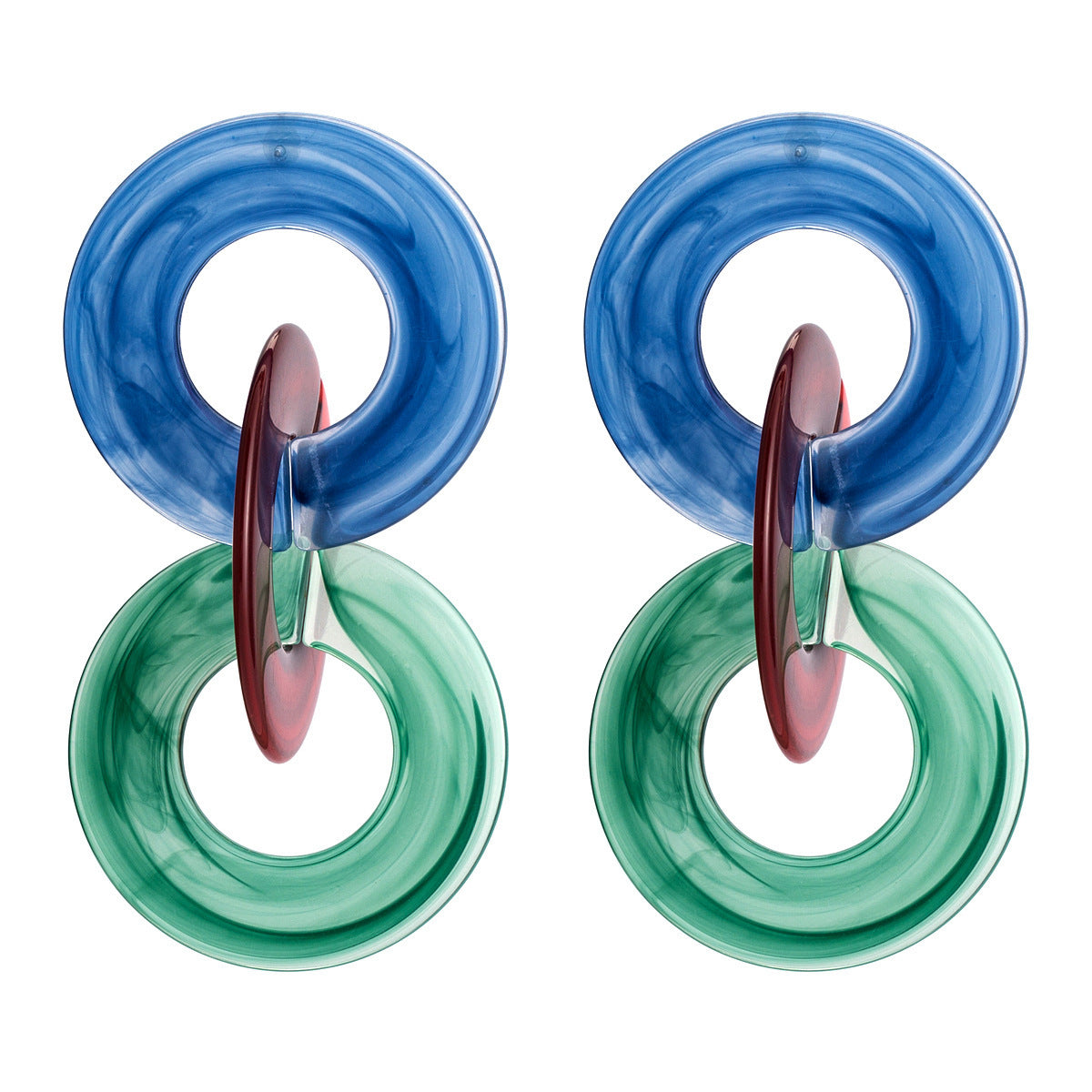 Acrylic colored Hoops