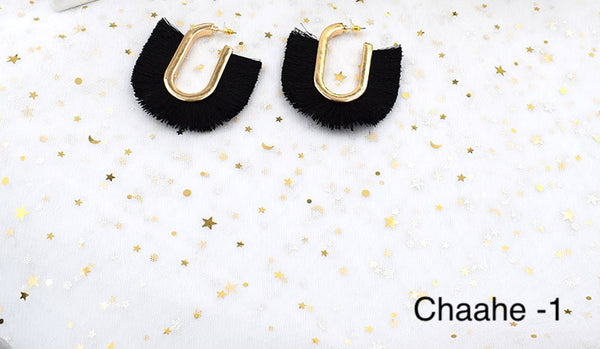 Box Tassel Earrings