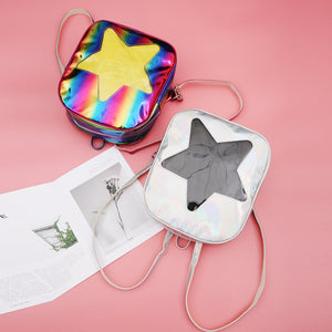 Cute Clear Holographic mini Backpack