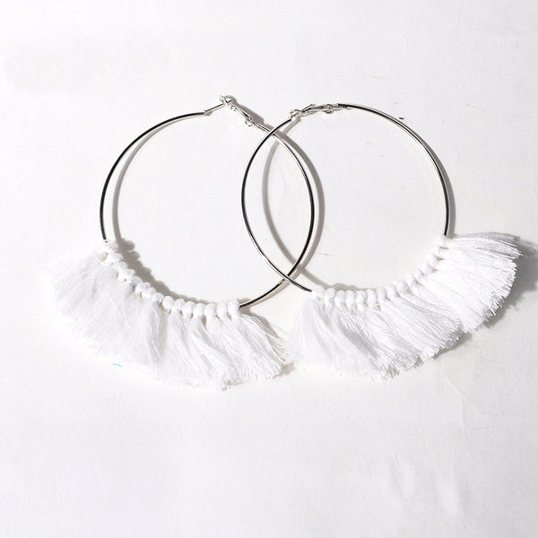 Simple sophisticated Hoop Tassels