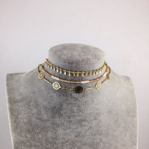 Bohemia Beaded Choker Necklace