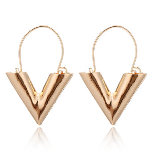 Simple Wind V Shape Earrings
