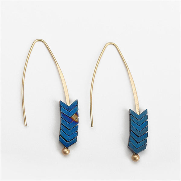 Zinc Alloy Geometric Arrow Earings