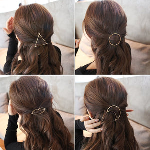 Pin Metal Geometric Alloy Hair Clip