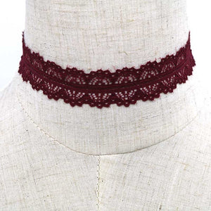 Rose Red Lace choker